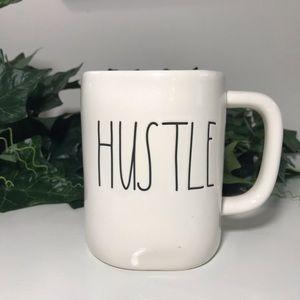 Rae Dunn by Magenta Hustle Mug Cream White Black